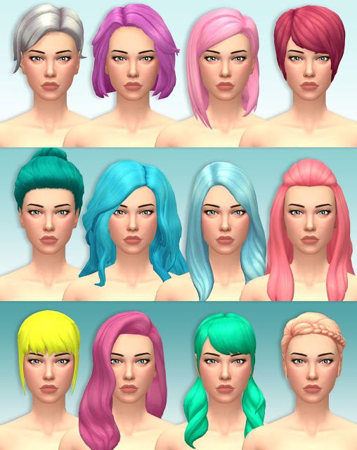 Sims 4 CC's - The Best: EA Hair Recolors by Lotti die ...