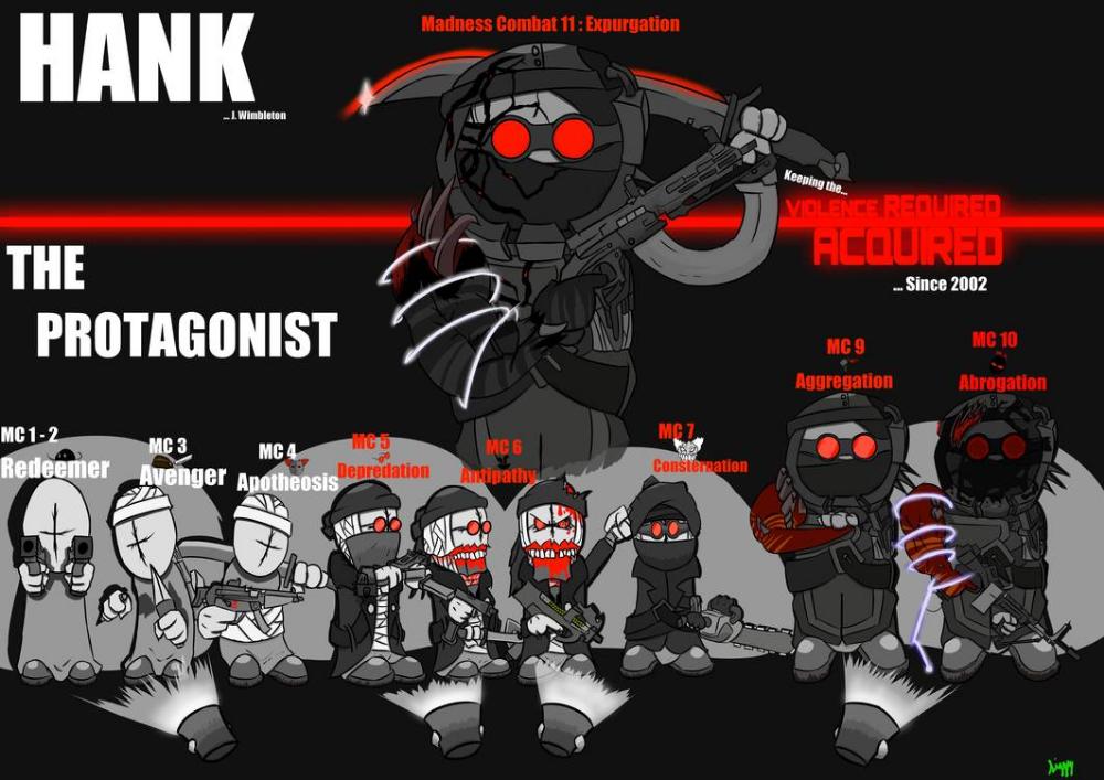 Madness Combat Hank Protagonist Spotlight Fanart By Siggycutesypoo On Deviantart Combat Fan Combat Fan Art