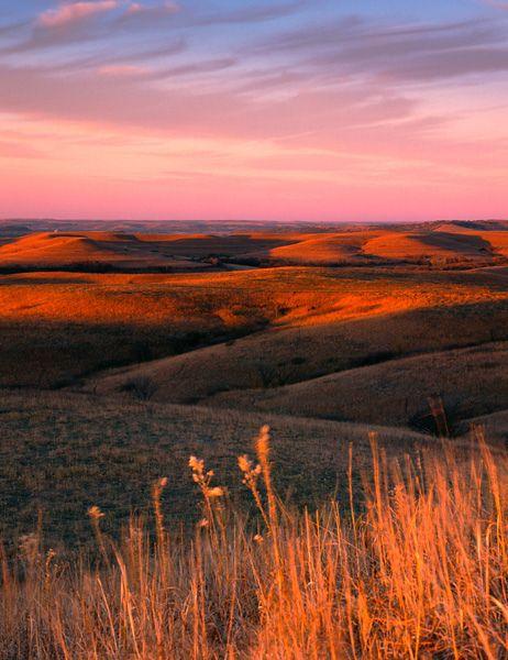 Dusk over Konza Prairie, Kansas by James Nedresky photographer, via Flickr