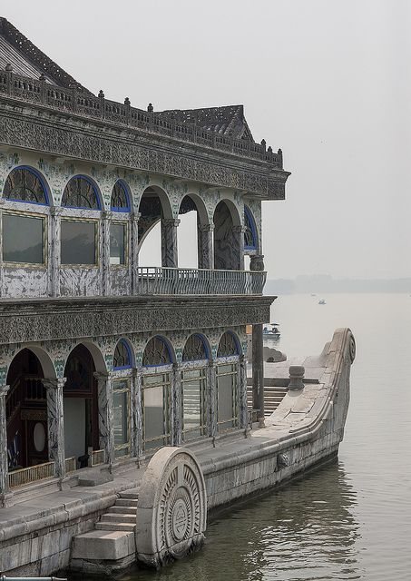 Marble Boat In Summer Palace, Beijing China   Flickr - Photo Sharing!
