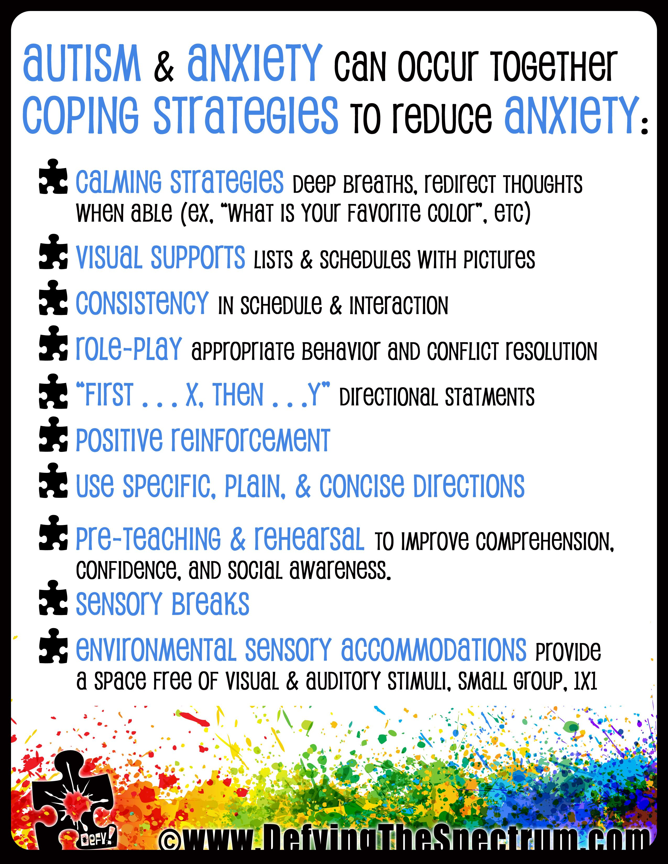 Free Autism Awareness Printable Autism Amp Anxiety