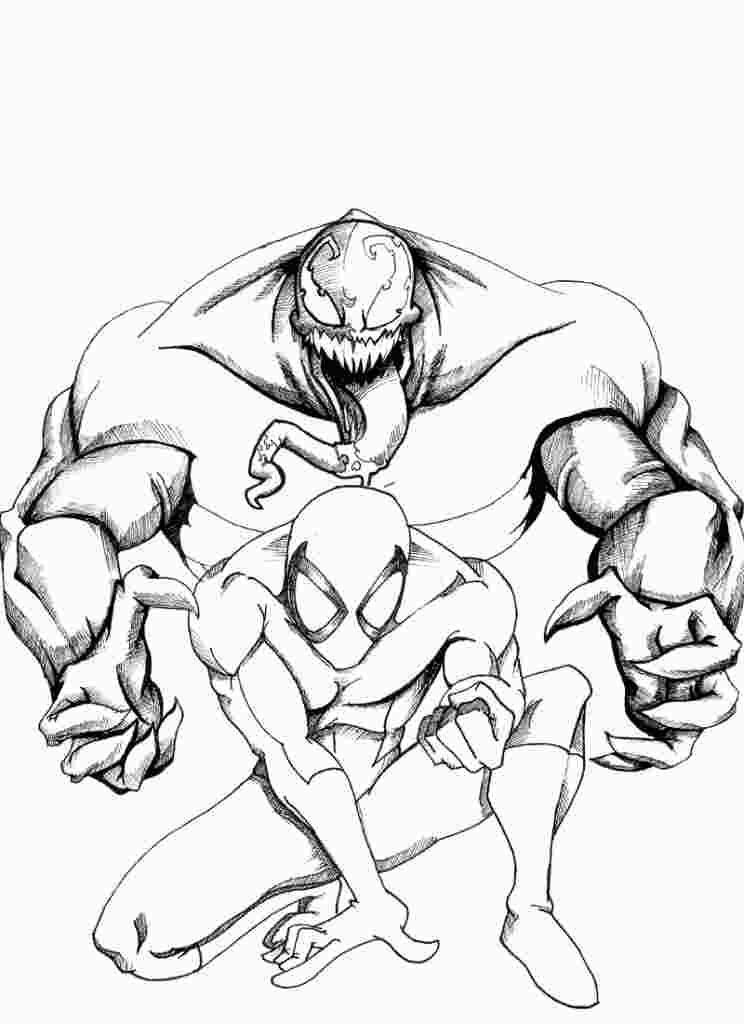 Spiderman Venom Coloring Pages Printable With Images Spiderman