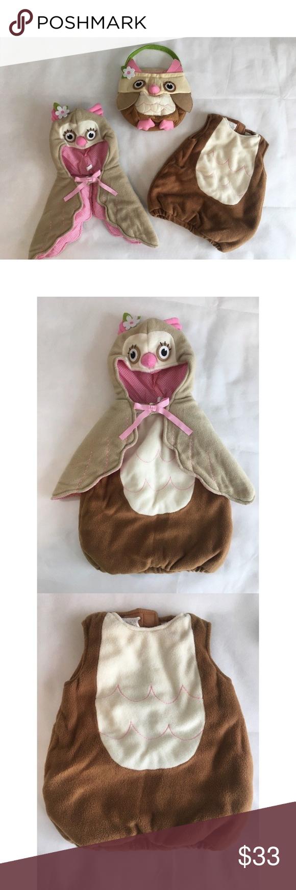 Pottery Barn Kids Girls Baby Owl Costume Sz 612 M Pottery