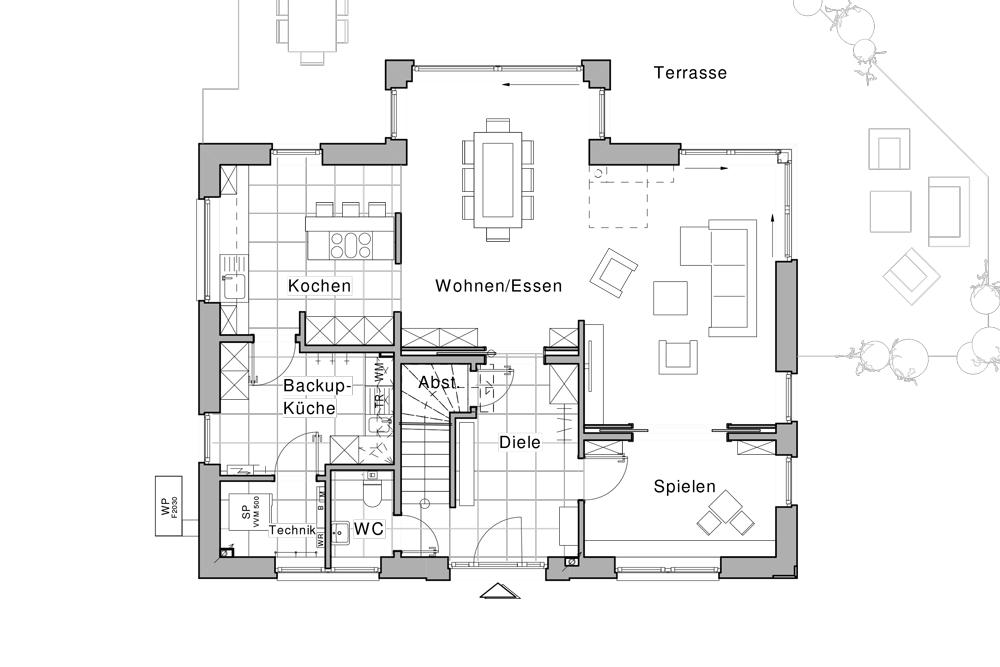 Erdgeschoss | Haus planen | Pinterest | Schlafzimmer, Haus und ... | {Küche planen grundriss 52}