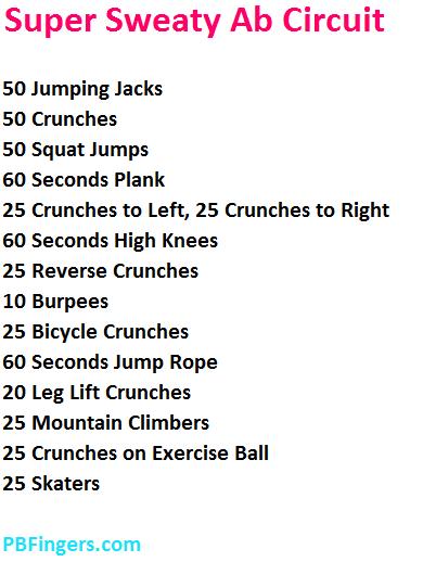 Ab Circuit Workout