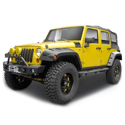 Bushwacker Body Gear Pocket Style Fender Flares In Oem Style Textured Black Finish For 07 Up Jeep Wrangler Jk 4 Doo With Images Jeep Wrangler Jk Jeep Jeep Wrangler Parts