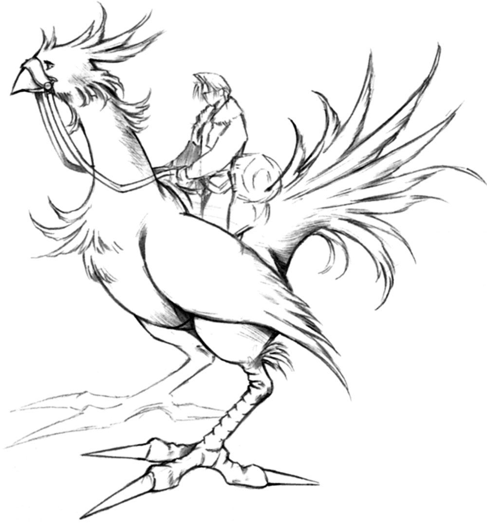 Squall Riding Chocobo Characters Art Final Fantasy Viii Final Fantasy Art Fantasy Concept Art Final Fantasy Collection