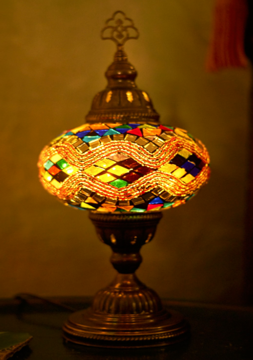 Colorful Mosaic Turkish Table Lamp. #discoverturkey #lamp #homedecor  #EBhome #earthboundtrading