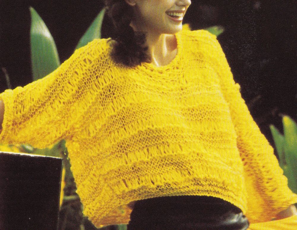 Vintage Knitting Pattern Instructions to Make a Ladies Jumper ...
