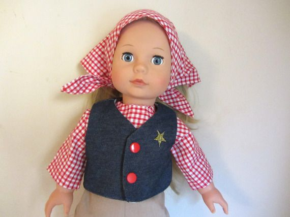 Habit de poupée   déguisement de cow boy pour poupée Précious Day 46 cm de  Götz d08925fc65b