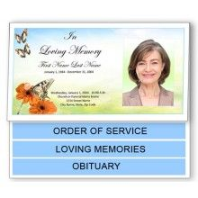 New Bottom Fold Graduated Funeral Program Templates Offer A Unique