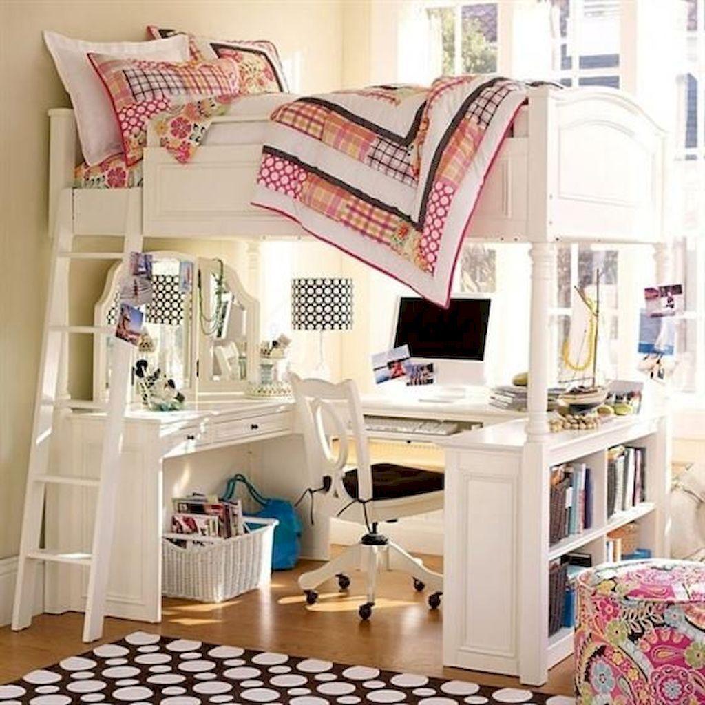 100+ cute loft beds college dorm room design ideas for