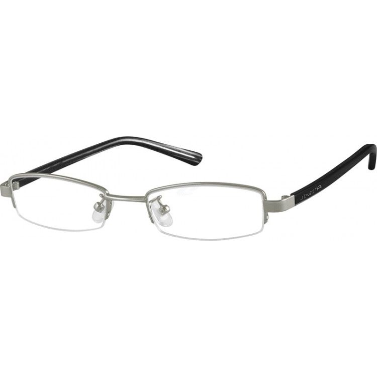 Stainless Steel Half-Rim Frame with Acetate Temples (Same Appearance ...
