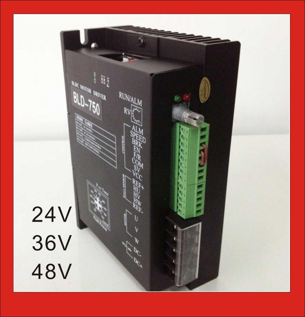 24V 36V 48V BLDC Motor Driver Controller 750W 18V-50V DC Brushless ...