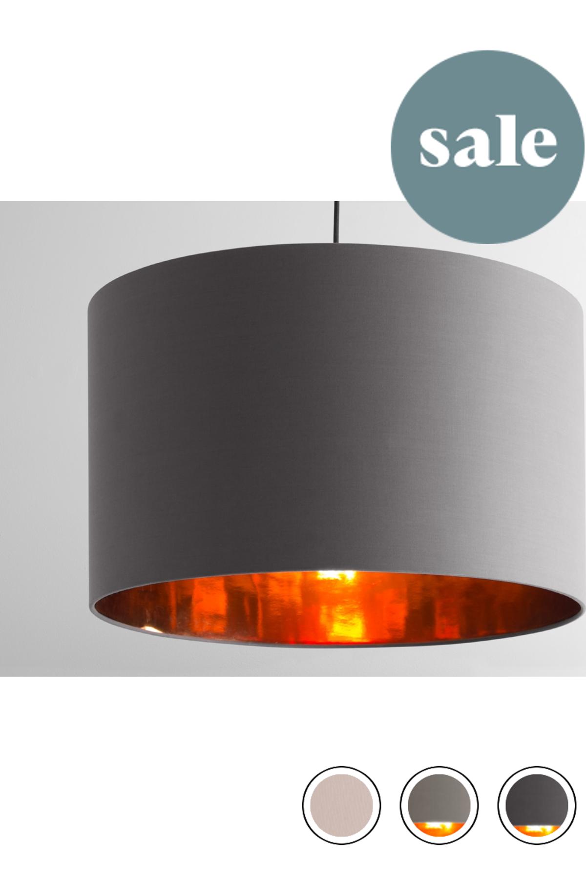 Made Grey Copper Pendant Shade Shades Copper Lamp Shades