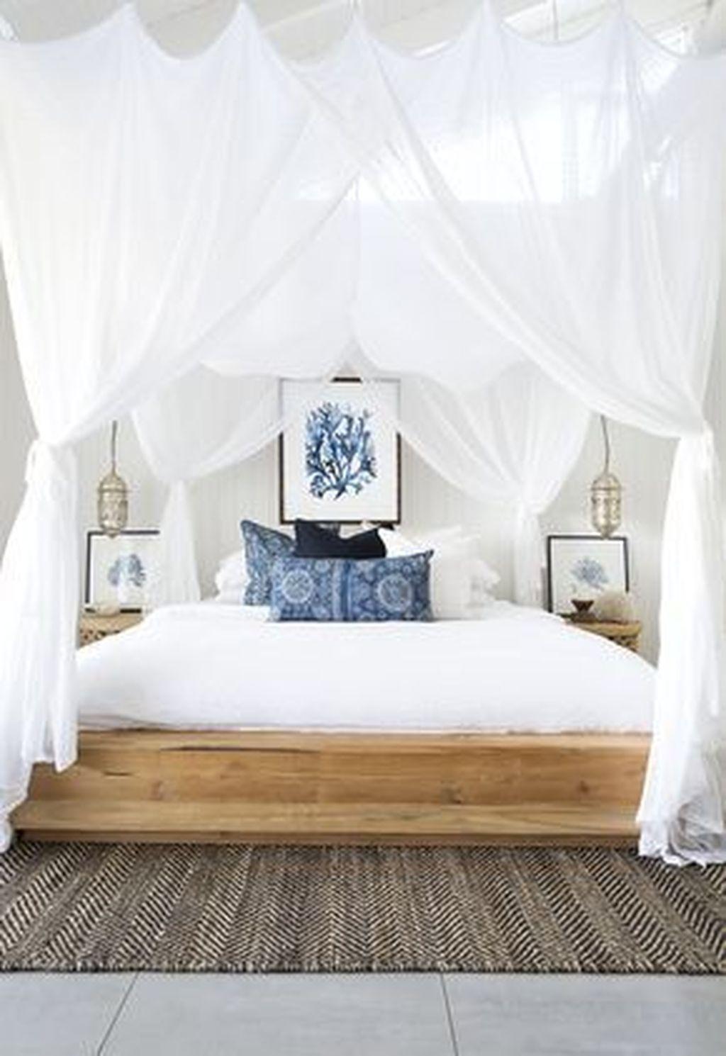 46 Elegant White Themed Bedroom Ideas   Coastal bedrooms ...