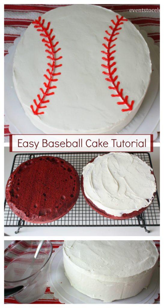 Photo of Easy Baseball Cake Tutorial