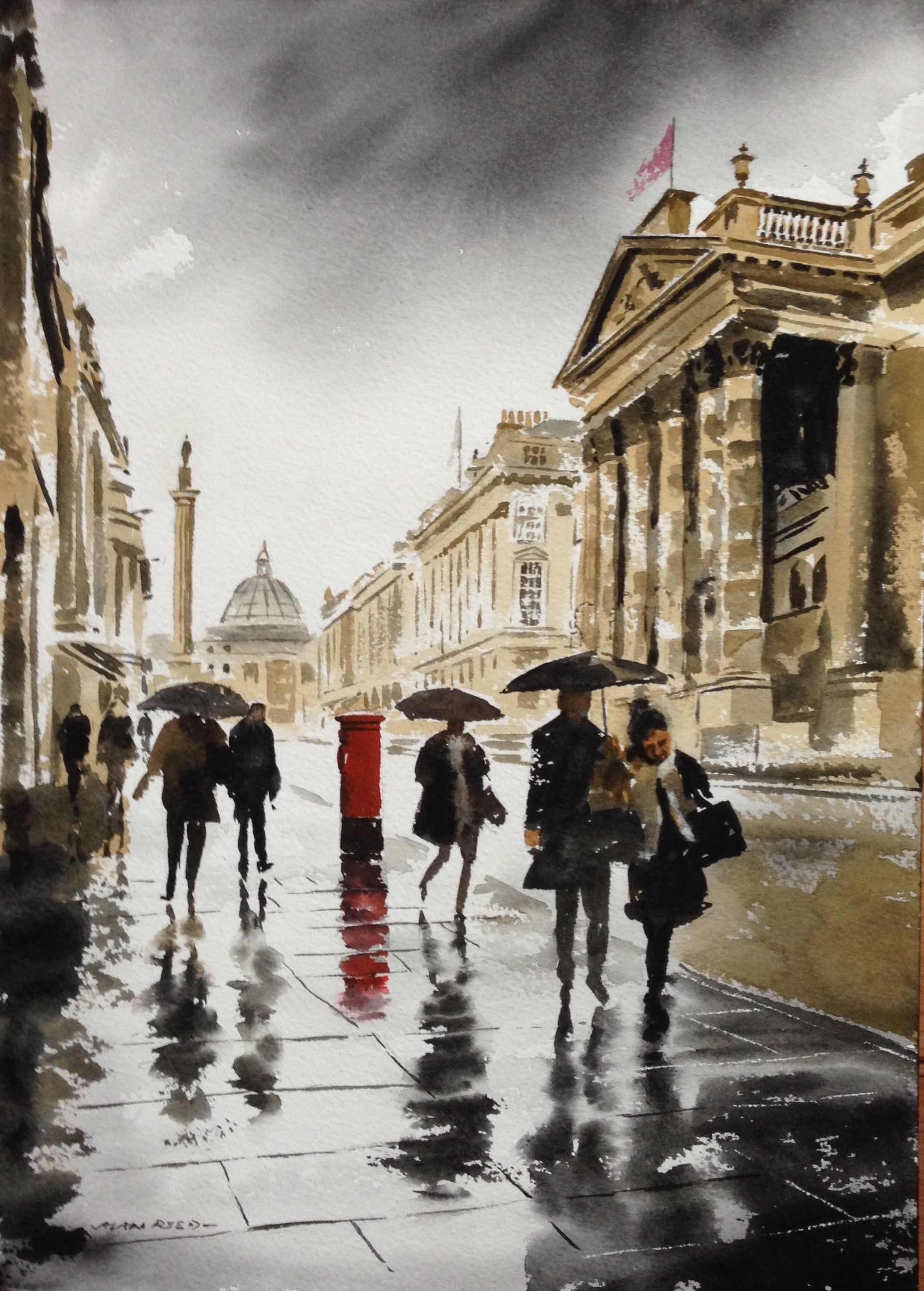 Original Watercolour Paintings Of Newcastle Upon Tyne In