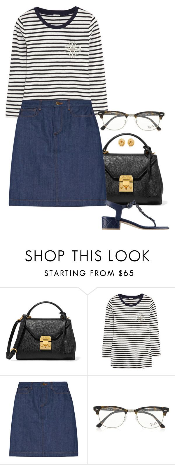 """Hwa."" by foreverforbiddenromancefashion ❤ liked on Polyvore featuring Mark Cross, J.Crew, A.P.C., Ray-Ban and Tiffany & Co."