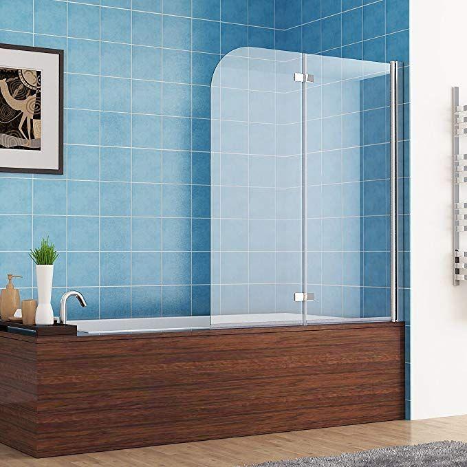 Faltwand Glas 100 x 140 cm badewannen 2 tlg. faltwand aufsatz duschwand