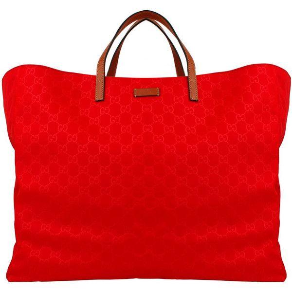 a91189e0103683 GUCCI GG Nylon Beach Bag ($405) ❤ liked on Polyvore featuring bags, purses,  bolsas, handbags and borse
