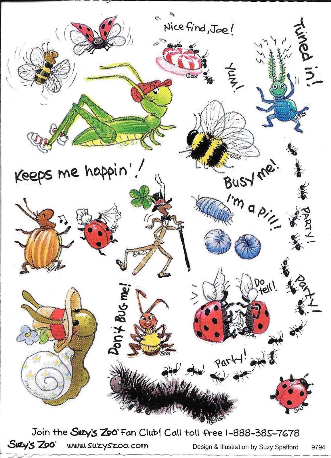 Suzy\'s Zoo Sticker Sheet Bugs | eBay | Suzy\'s zoo | Pinterest | Basteln