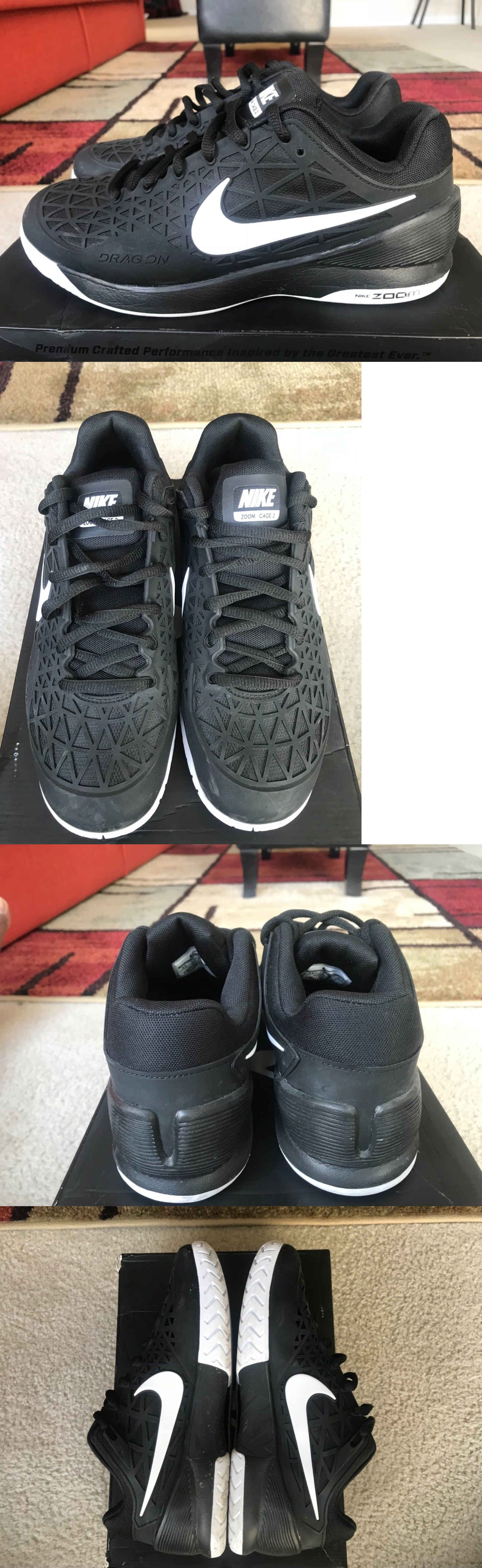 a78b93c4b545 Clothing Shoes and Accessories 62229  Nike Zoom Cage 2 Black Men S Size 8.5  -  BUY IT NOW ONLY   98 on eBay!