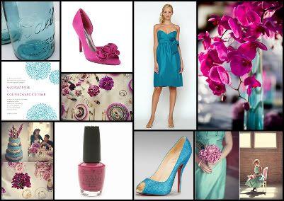 Turquoise And Fuschia Wedding Theme Do You Like This