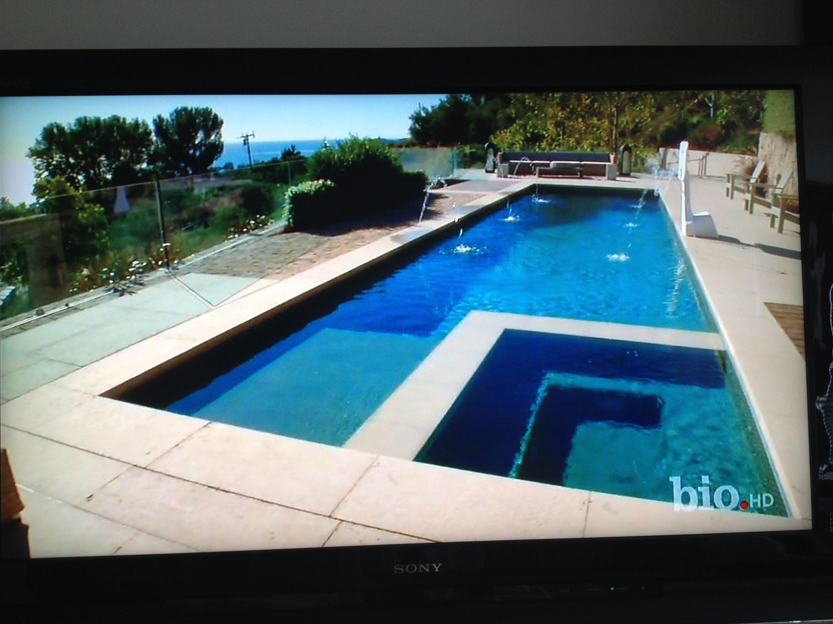 Inset Spa Long Narrow Pool Swimming Pool Designs Pool Swimming Pools