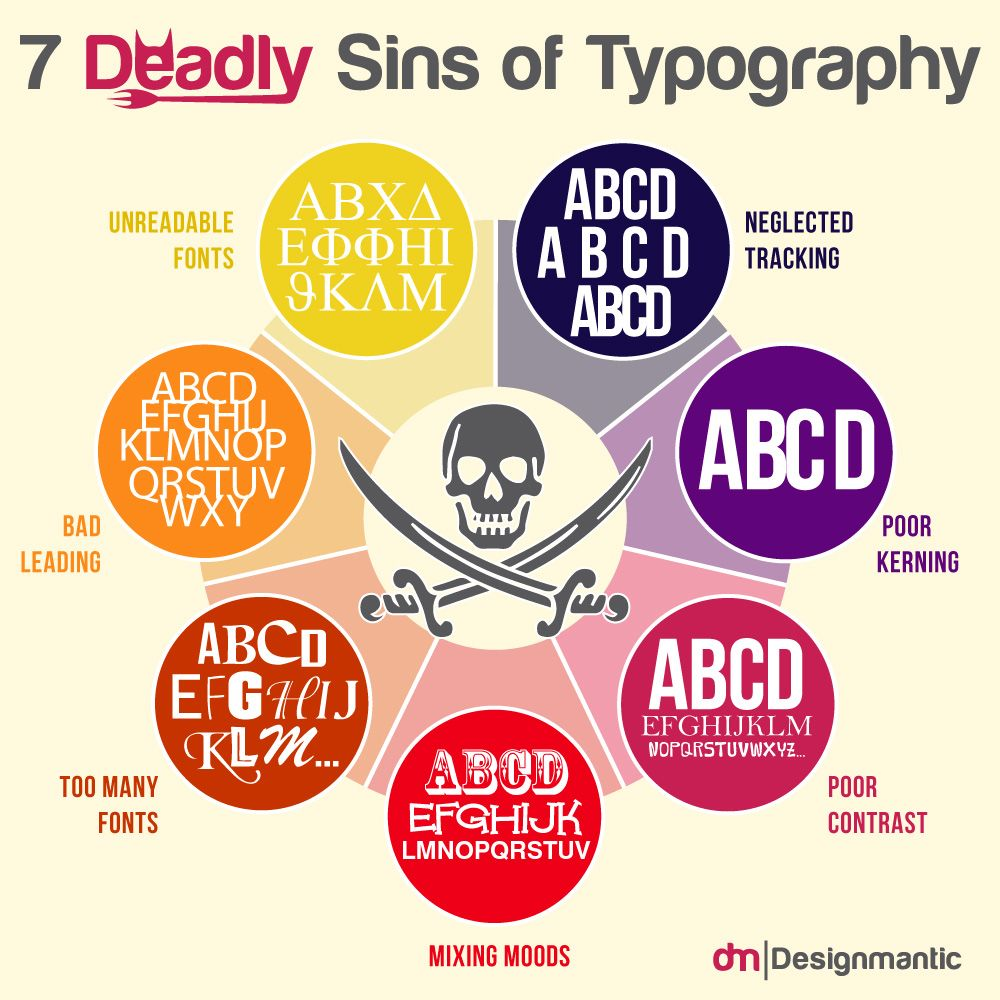 7 Deadly Sins Of Typography With Images Typography Rules