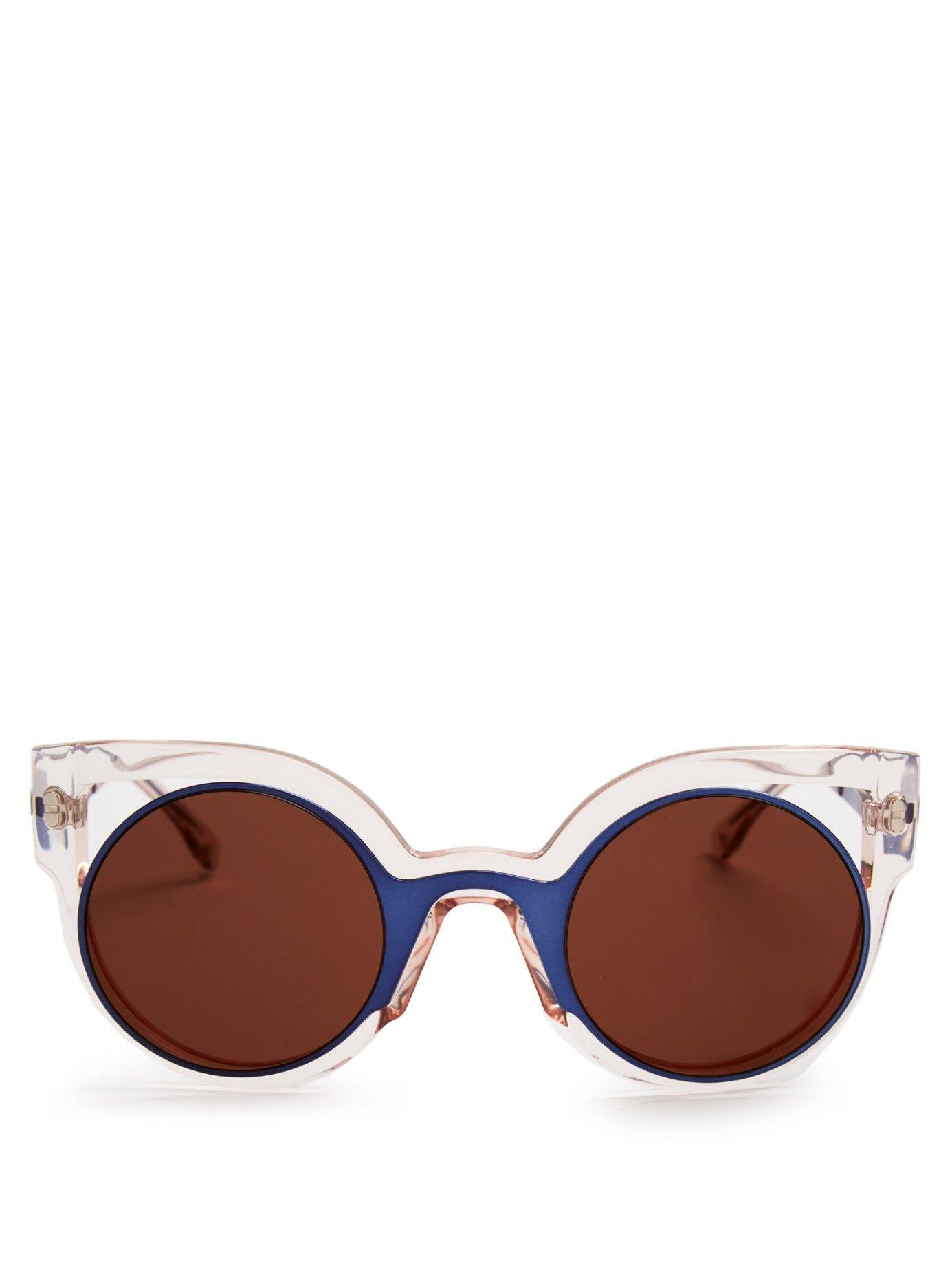 92bfd457e0 Bi-colour round-framed sunglasses