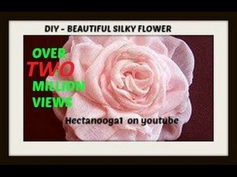 DIY BEAUTIFUL SILKY FLOWER #flowerfabric