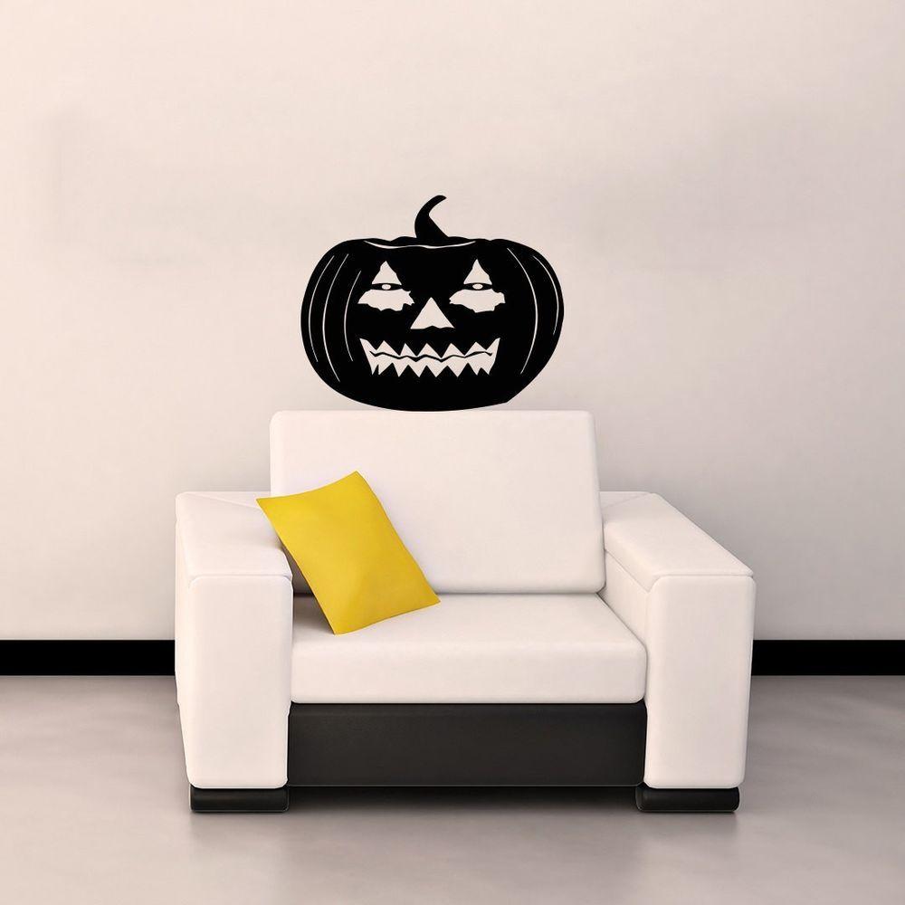 Pumpkin halloween wall vinyl decal design murals interior decor