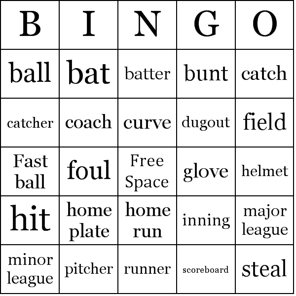 Baseball bingo card sample | homeschooling | Pinterest | Birthdays ...