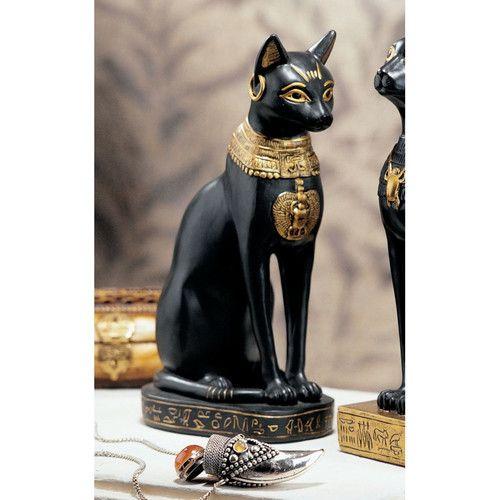Egypt 3-Inch Egyptian Black Bastet Feline Cat Goddess Statue