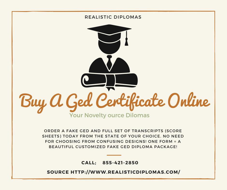 Buy ged certificate