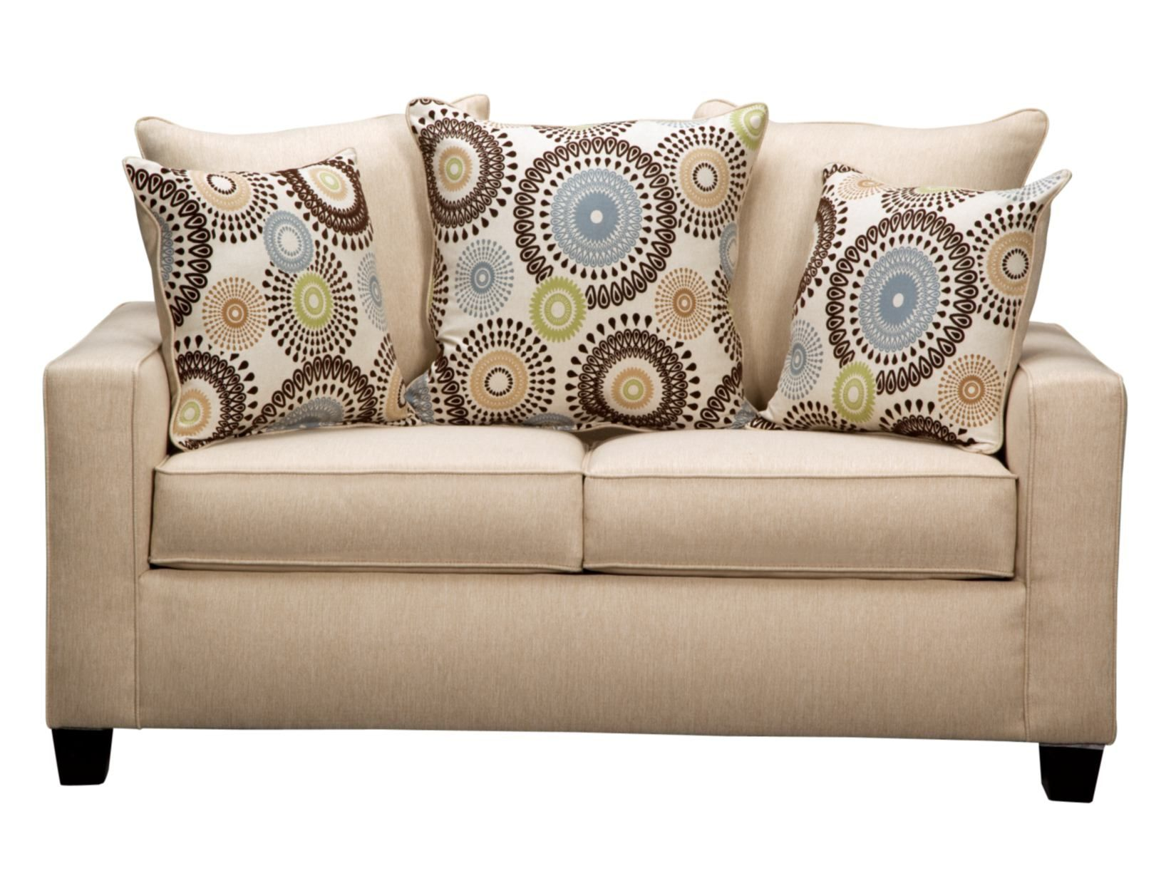 Stoked Cream Loveseat   Value City Furniture