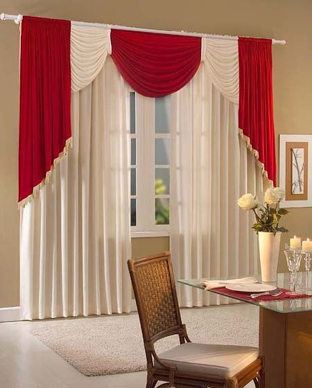 Estilos De Cortinas Para Sala Imagui Red And White Curtains Curtain Designs Curtains