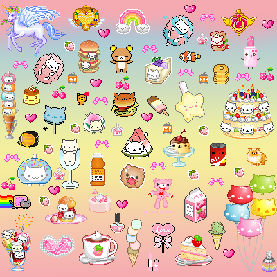 Kawaii Pixel Background Tags kawaii cute background
