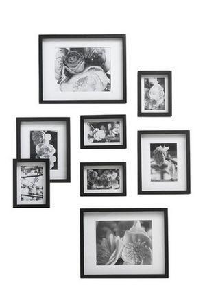 Myer - VUE Gallery 8 Pack Frame Set Black | House | Pinterest | House