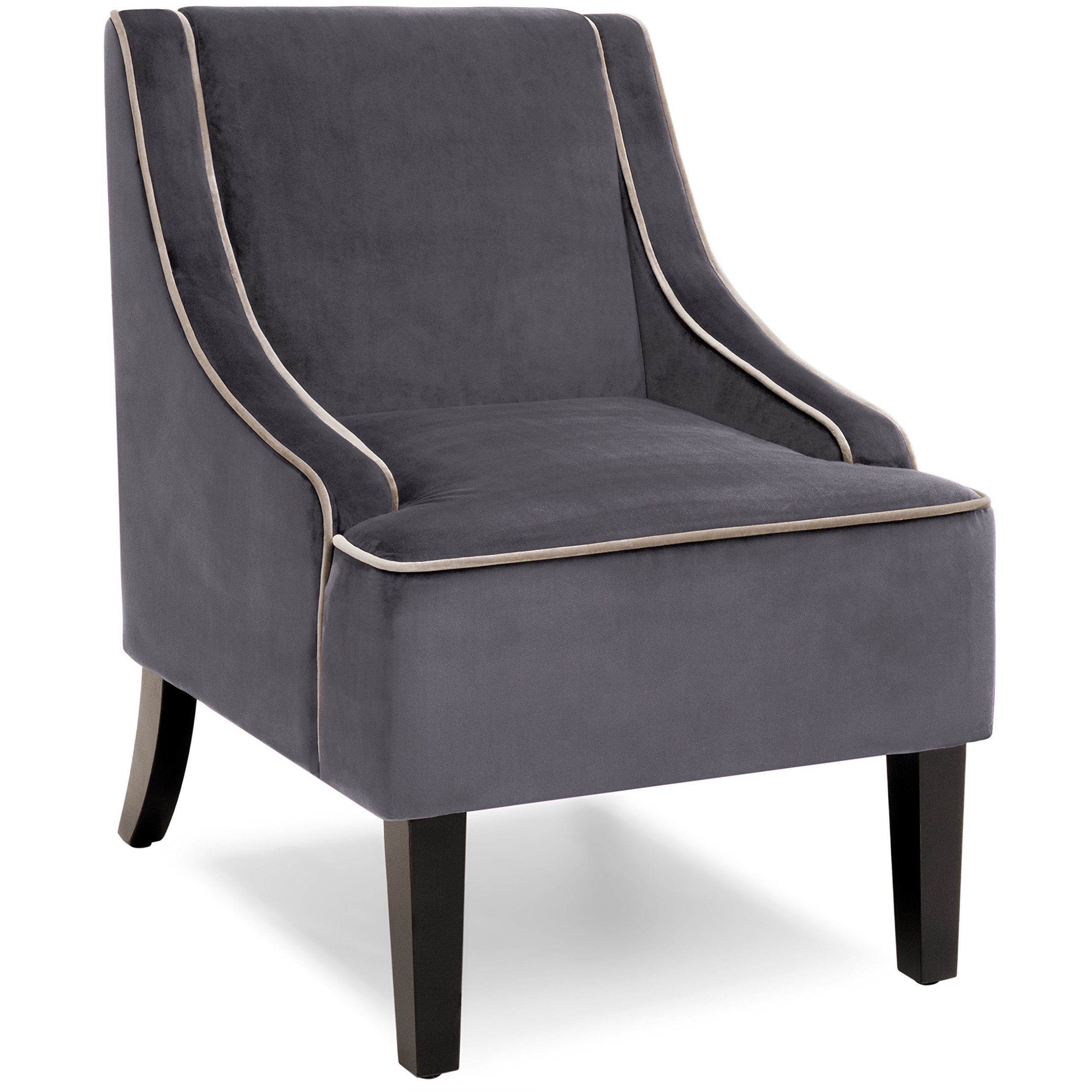 Best Choice Products Microfiber Accent Chair W/Tapered