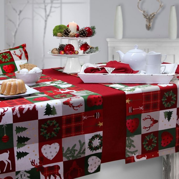Weihnachten mit Sander table & home: Tischdecke Christmas ...