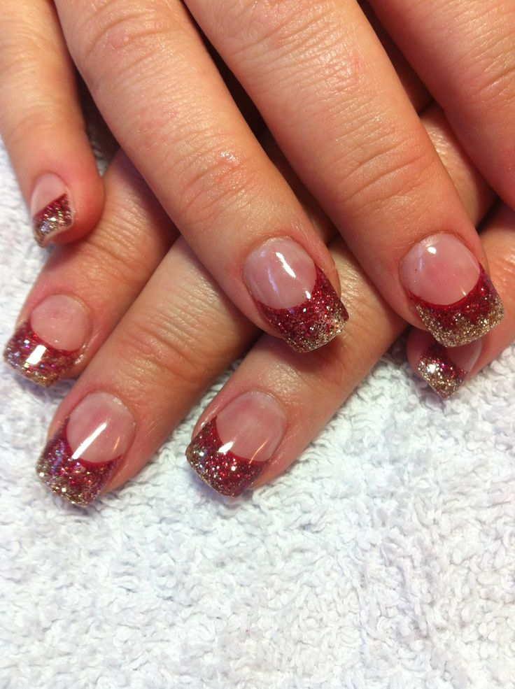Luxury Red And Gold Nails Christmas Pictures - Nail Art Ideas ...