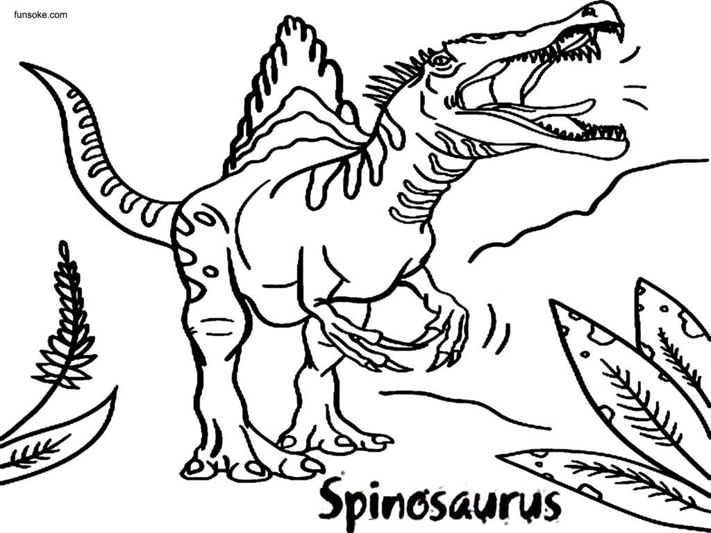 Spinosaurus Colouring Pages Free Spinosaurus Coloring Pages Colouring Pages