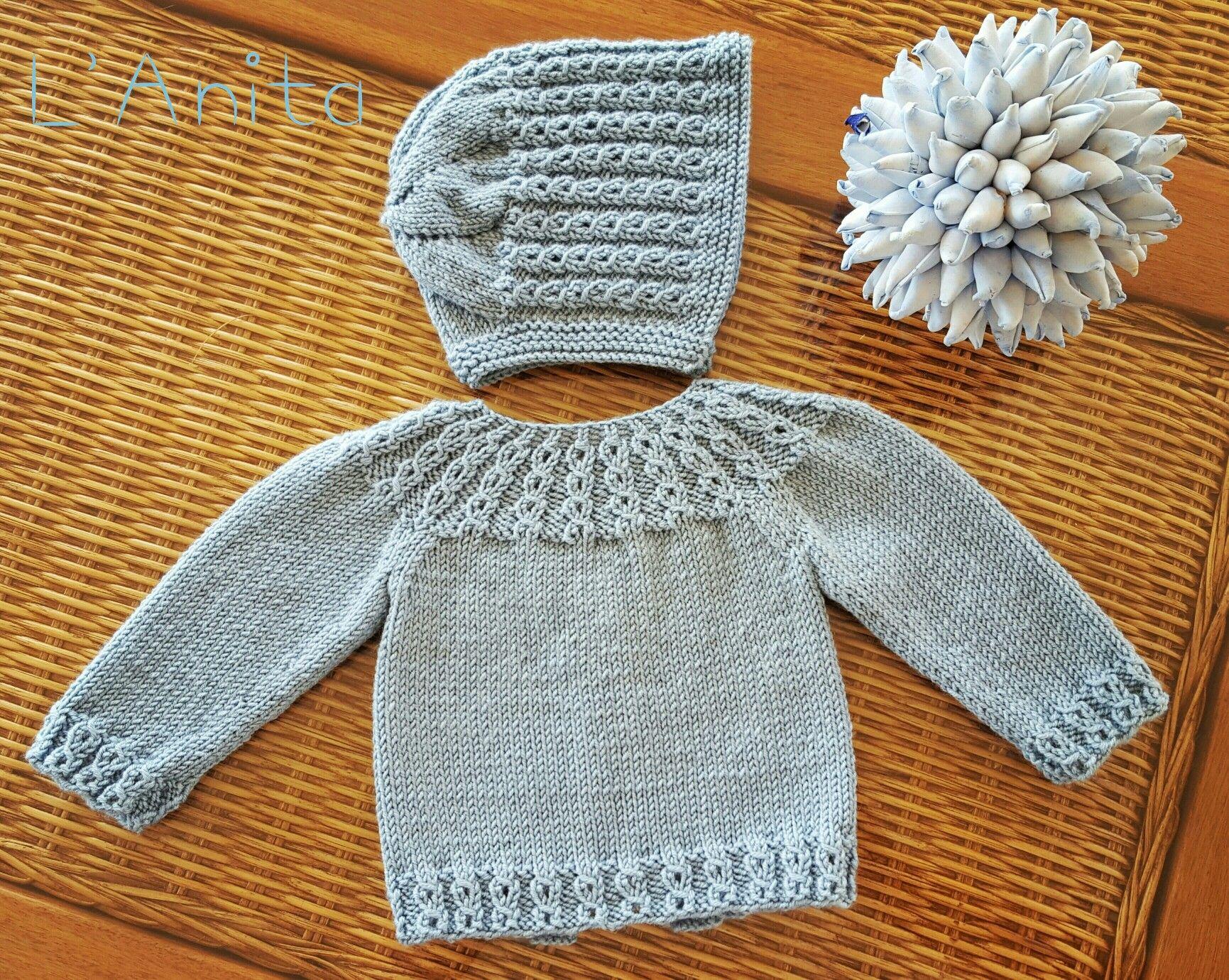 Conjunto tejido con lana merino para recién nacido. L\'Anita ...