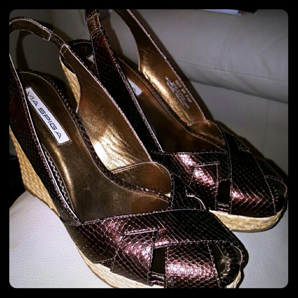 Via Spiga Wedge Sandals