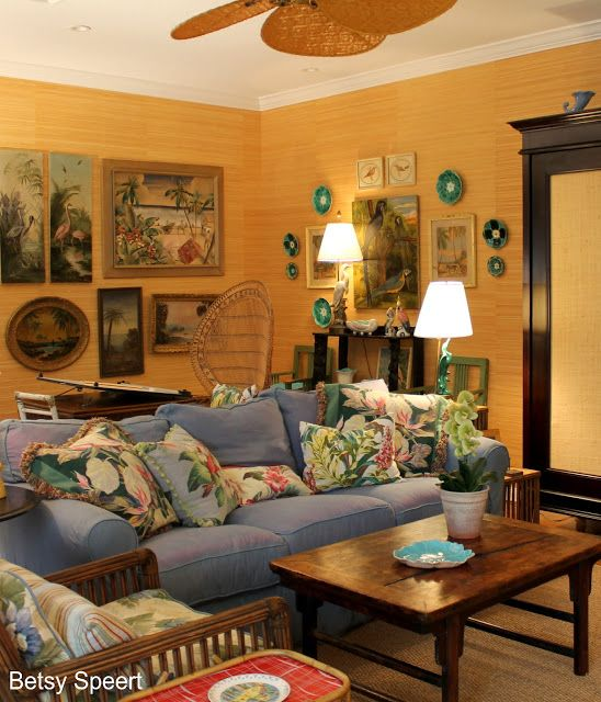 Vintage Florida Decore Betsy Speert S Blog My Living Room Story