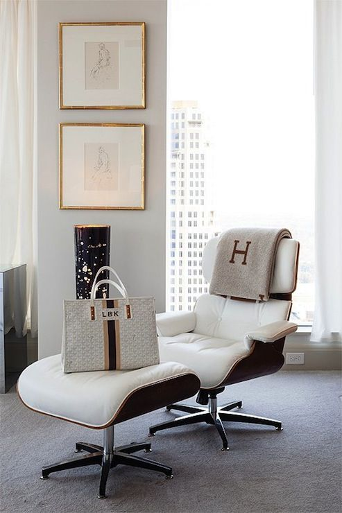 Pieces Inc Bedrooms Eames Lounge And Ottoman Hermes Throw Monogrammed Throw Blanket White Tufted Lounge Cha Eames Lounge Chair Home Home Interior Design