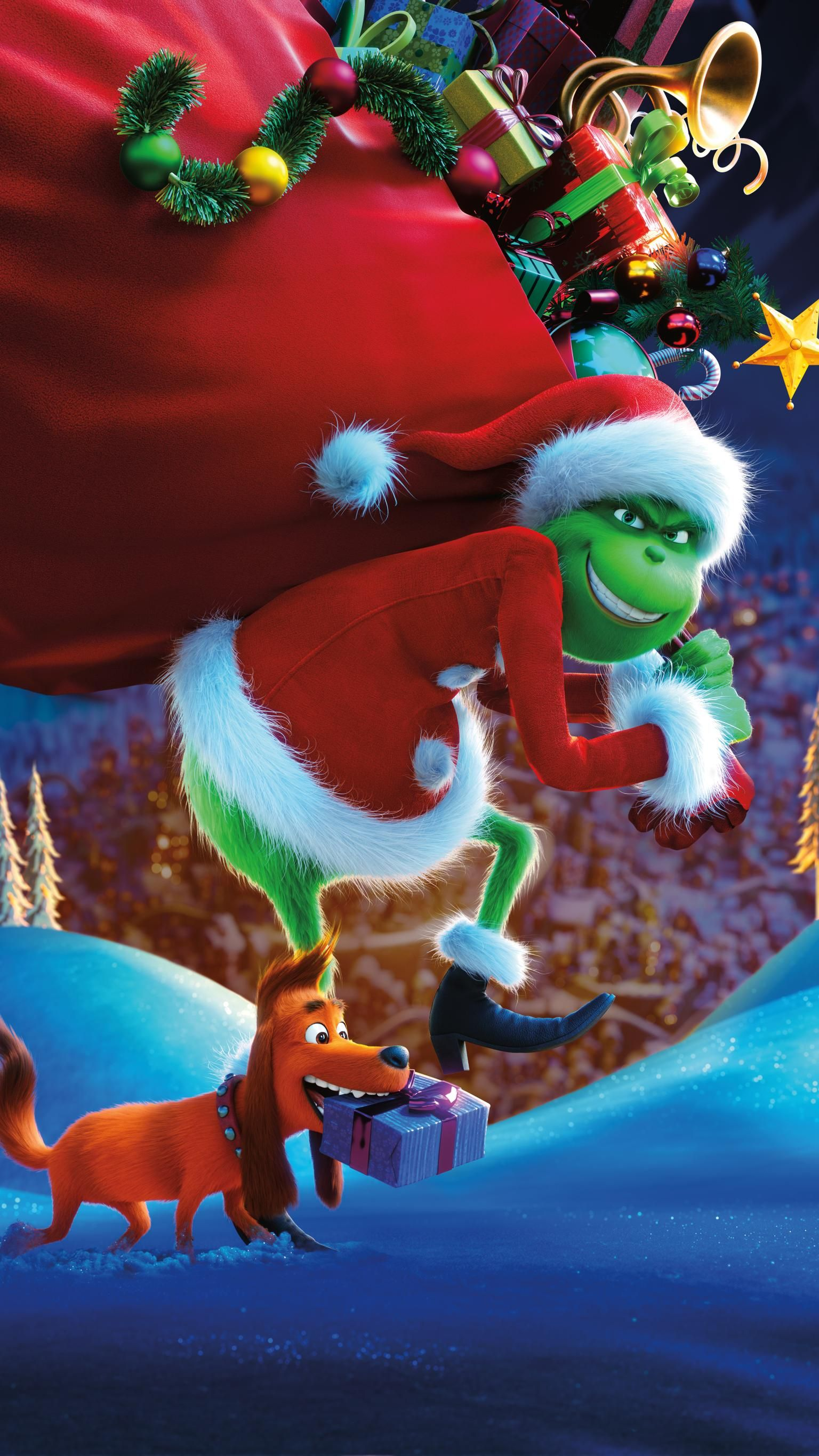 The Grinch 2018 Phone Wallpaper Moviemania Christmas Phone Wallpaper Wallpaper Iphone Christmas Christmas Wallpaper Iphone Tumblr