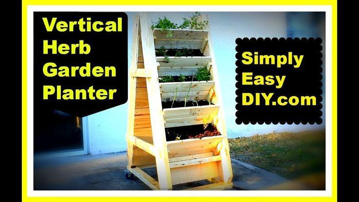 DIY vertikale Kräutergarten Pflanzer Box #senkrechtangelegtekräutergärten